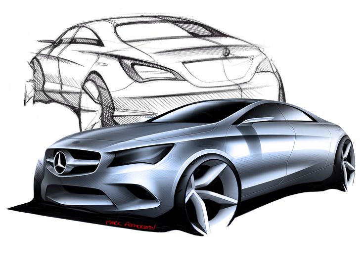 Mercedes-Benz CLA-Class Design Sketches