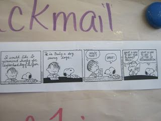Miss A's Class Ideas: Script Writing with Comic Strips