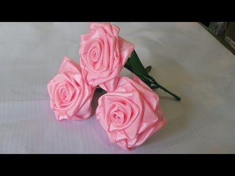 Cara Membuat Bunga Mawar Dari Pita Satin Youtube Bunga Tutorial Bunga Kertas Pita