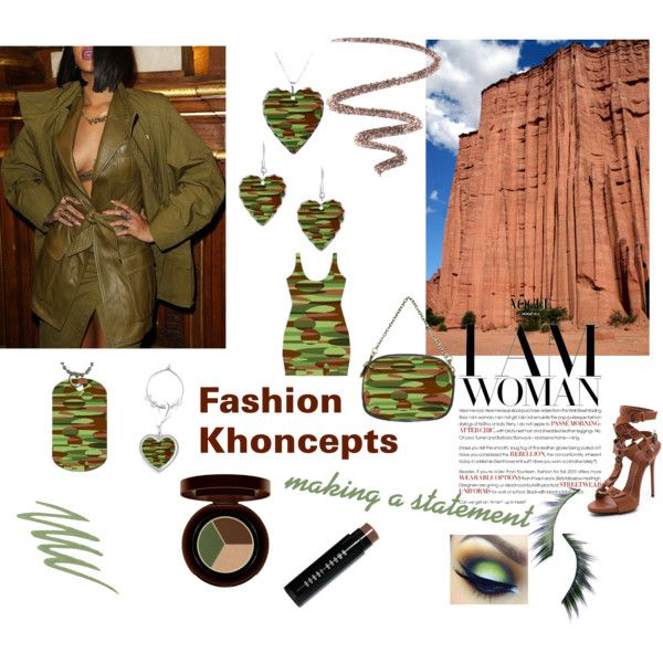 """Fashion Khoncepts - Green and Brown"" Bodycon dress with matching accessories."