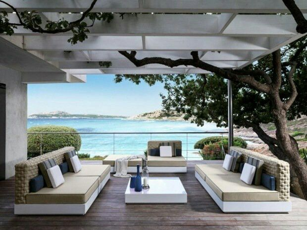 Moderne Gartenmöbel, Outdoor Möbel Design, Moderne Sessel, Lounge Stühle,  Sunbrella Kissen, Sunbrella Stoff, Möbel, Garden Sofa, Sofas
