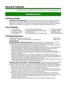 non profit volunteer resume sample