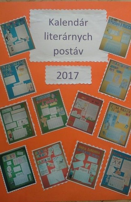 Žiaci si vytvorili Kalendár literárnych postáv na rok 2017 - Základné školy - SkolskyServis.TERAZ.sk