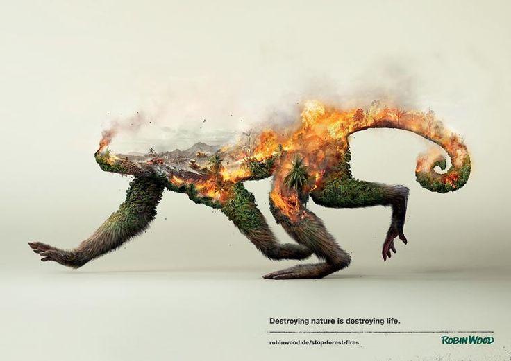 Destroying Nature – Une campagne de sensibilisation percutante en double exposition | Ufunk.net