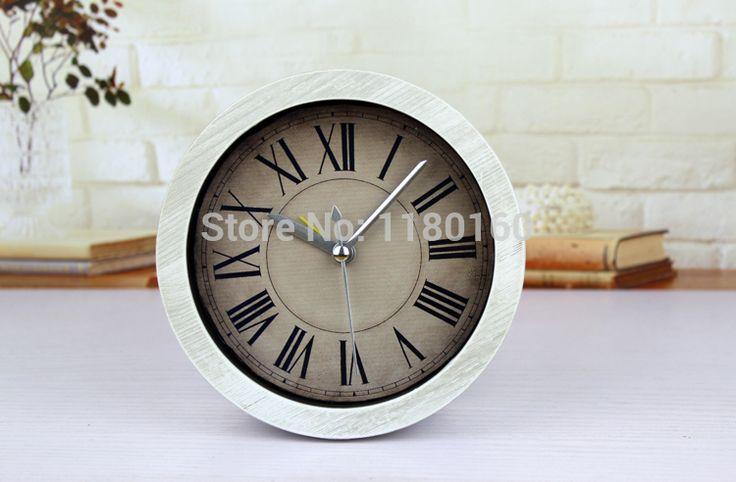 Европейский века классический, Сделать старый ретро будильник, творческий пастырской простота дерева настольные часы, Роман цифры стол часы