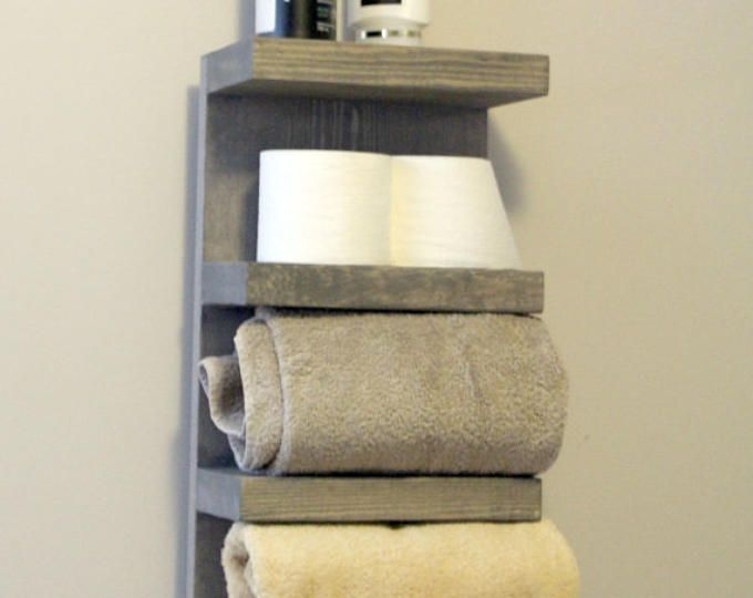 Bathroom Towel Rack 4 Tier Bath Storage Everyday Towel Rack Etsy Towel Rack Towel Rack Bathroom Bath Storage