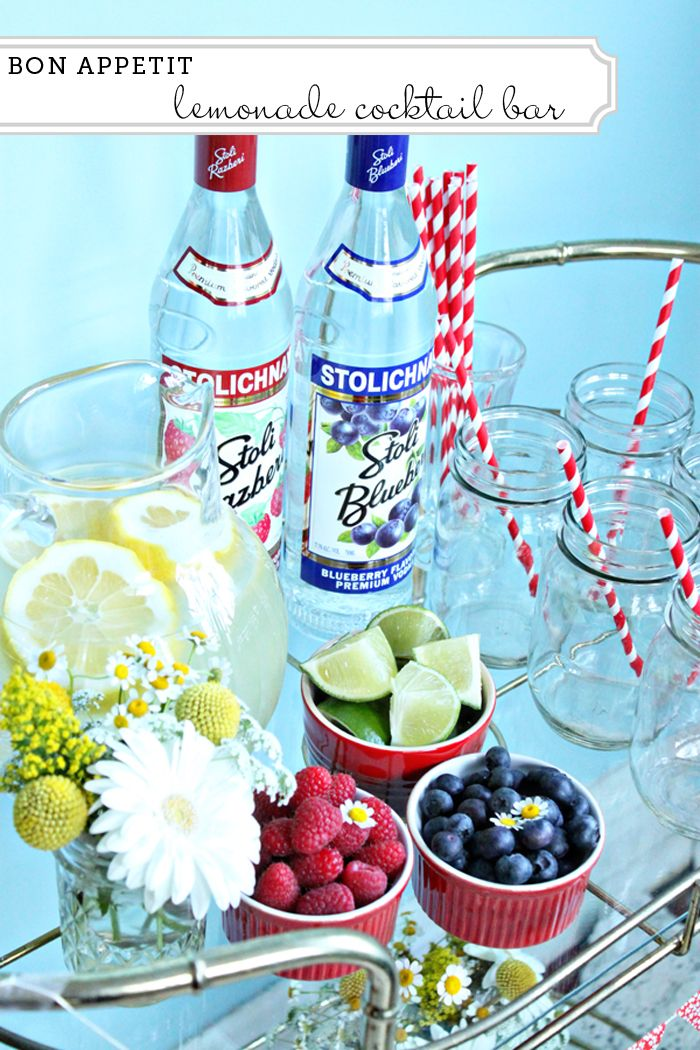 Lemonade cocktail bar I created for the Paper Muse Press blog.: Entertaining Ideas, Food Ideas, July Party, Adult Beverages, Adult Lemonade, Party Ideas, Lemonade Stand