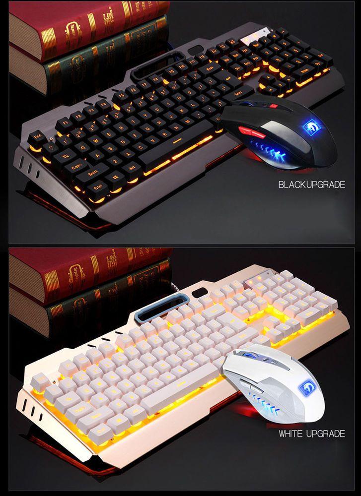 8d06dee14f3 M938 LED Backlit Usb Ergonomic Gaming Keyboard Gamer Mouse Sets Mouse Pad SA  (eBay Link