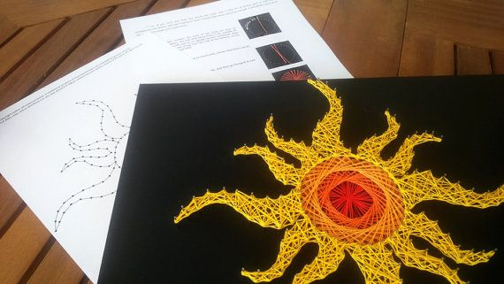String art pattern & instructions Tribal by TheStringArtStudio