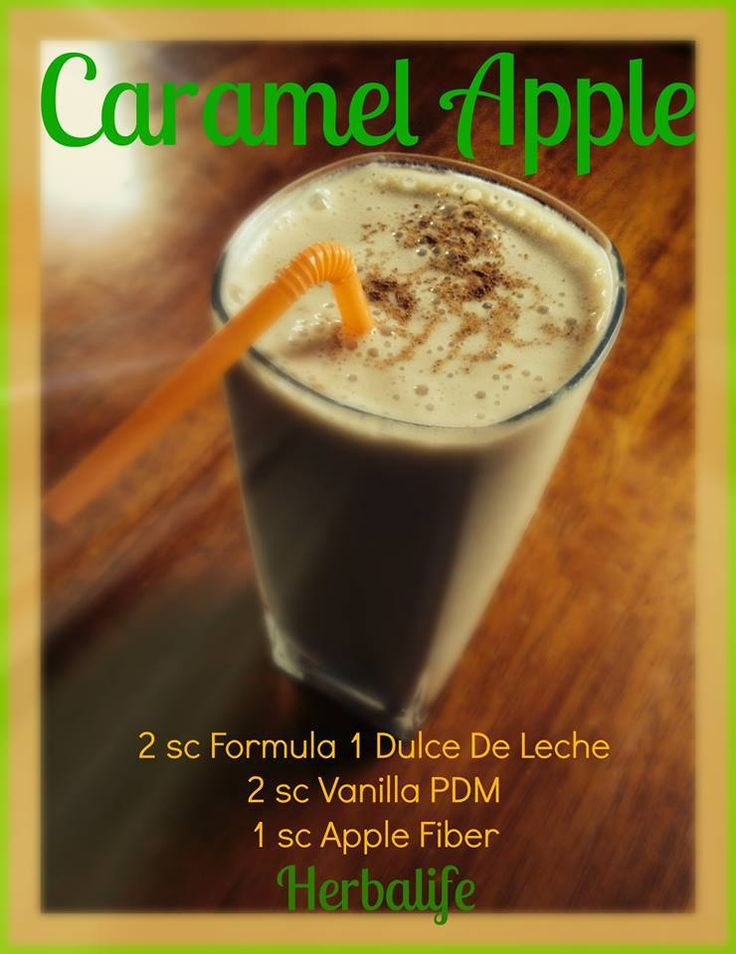 Caramel Apple Shake. * * * Herbalife Shake Fun Facts!!! * * * ✔ 21 vitamins, minerals, herbs, fiber and antioxidants. ✔ Gives you lasting ENERGY!!! ✔ 9 g of protein and fiber help support weight management. ✔ Satisfies hunger all morning long. Yummyyy. ✔ Delicious AND Nutritious!!!!!!