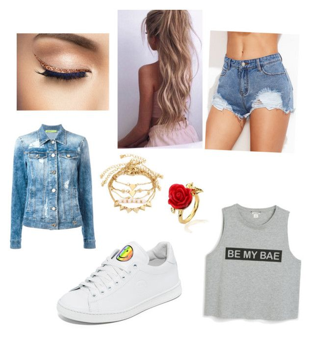"""""""Outdoor concert"""" by pamania on Polyvore featuring Disney Couture, Joshua's, Versace and Monki"""