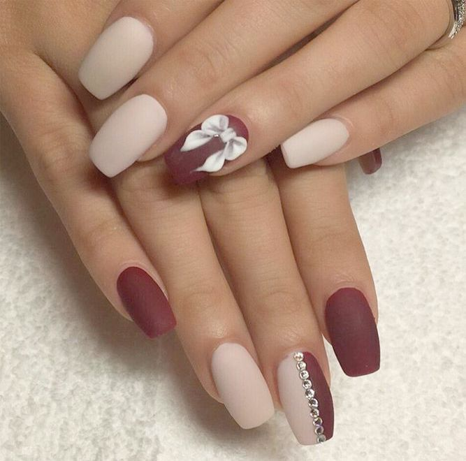 Home Blend Of Bites Short Coffin Nails Designs Maroon Nails Winter Nails Acrylic