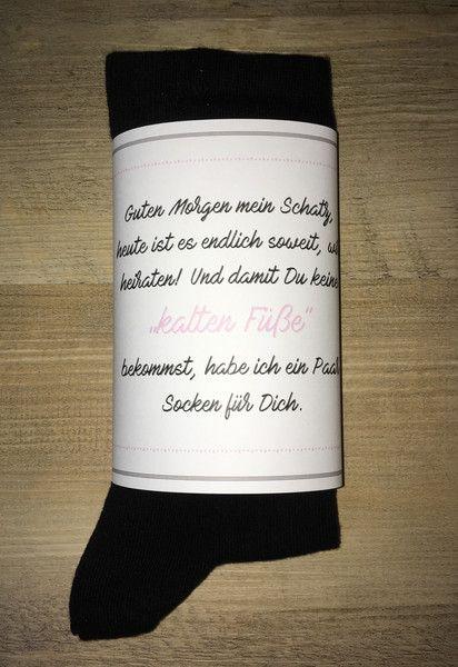 """Bräutigam - Bräutigam Socken gegen """"kalte Füsse"""" Wedding Socks - ein Designerstück von Vintagelaedchen bei DaWanda"""