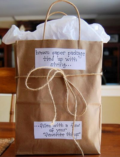 Valentine Gift Ideas for Boyfriend - Bag of His Favorite Things - Click Pic for 40 DIY Valentine Gift Ideas for Husband