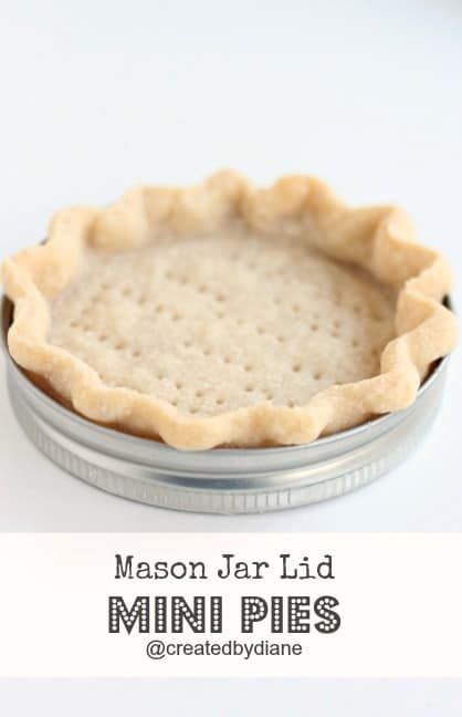 Baking pies in mason jar lids is easy and they result in ADORABLE mini pies.