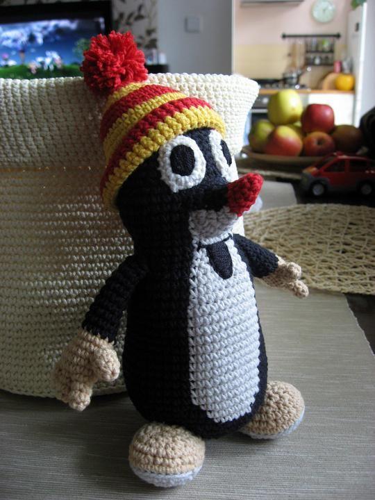 krtek little mole Crochet pattern. Needs translation.