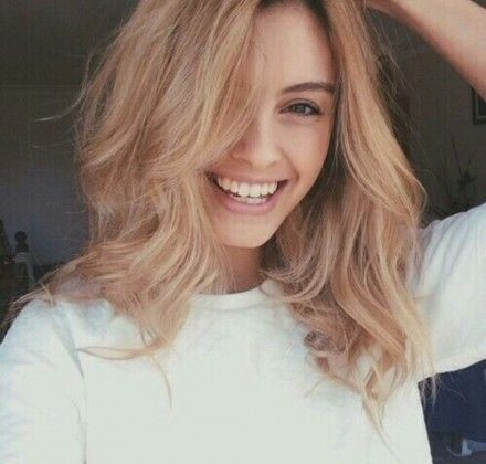 Beautiful smile with beautiful hairstyle