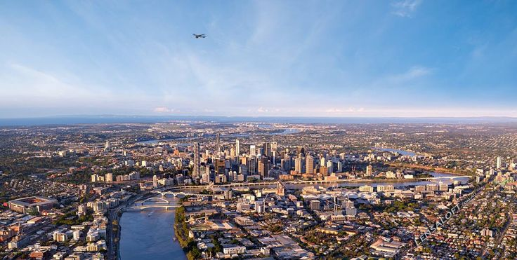 Aerial photo of Beautiful Brisbane Australia