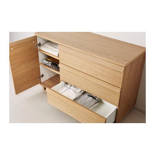 OPPLAND Kommode mit 3 Schubl/1Tür - Eichenfurnier - IKEA