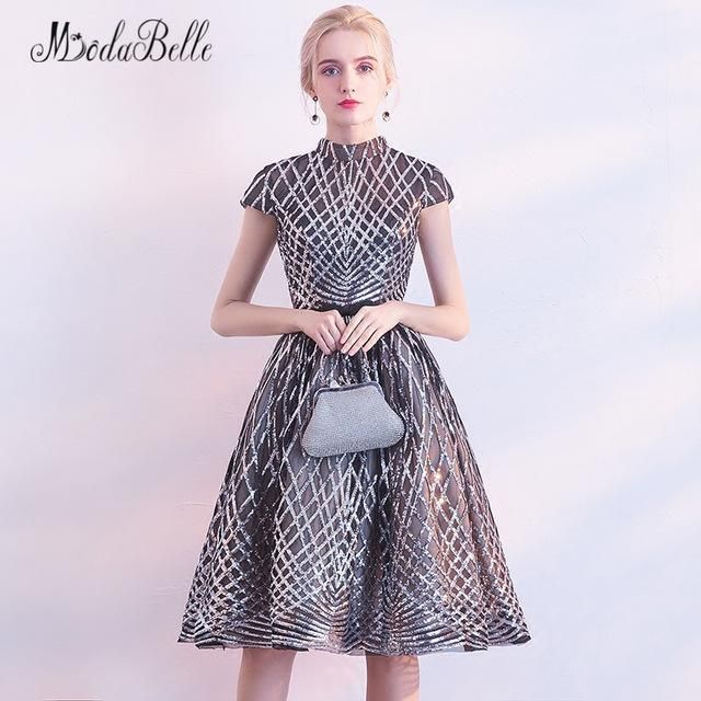 Avondjurken korte jurk