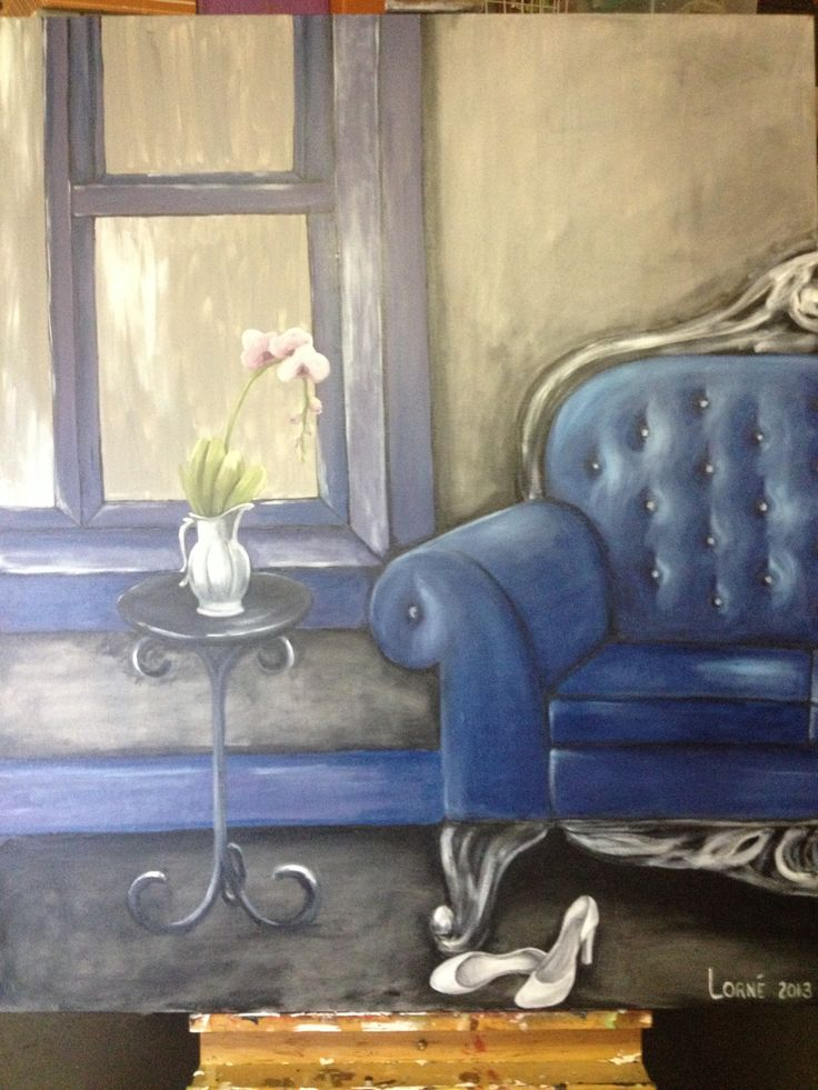 Blue room. Shoes completed