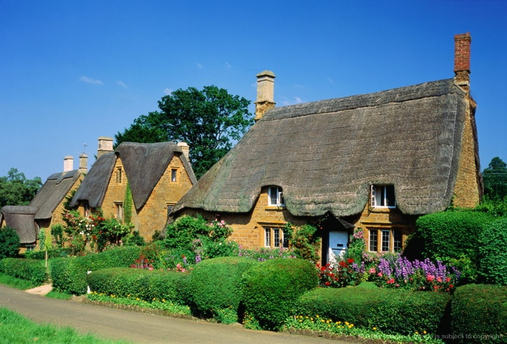 Image detail for -England,Oxfordshire,Great Tew, traditional thatched cottages