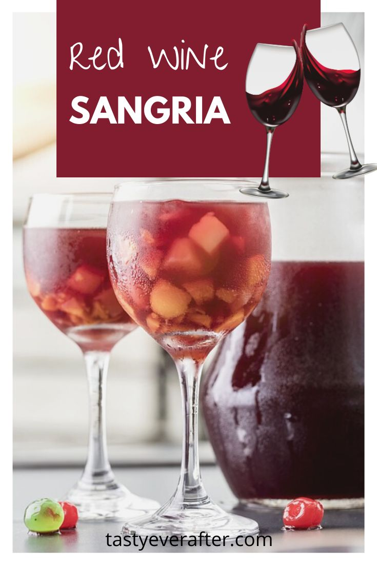 Fruity And Sweet Red Wine Sangria With Orange Apple And Lemon Recipe Red Wine Sangria Red Wine Sangria