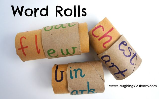 These simply made word rolls will help children learn to read and develop a better understanding of how words are put together.