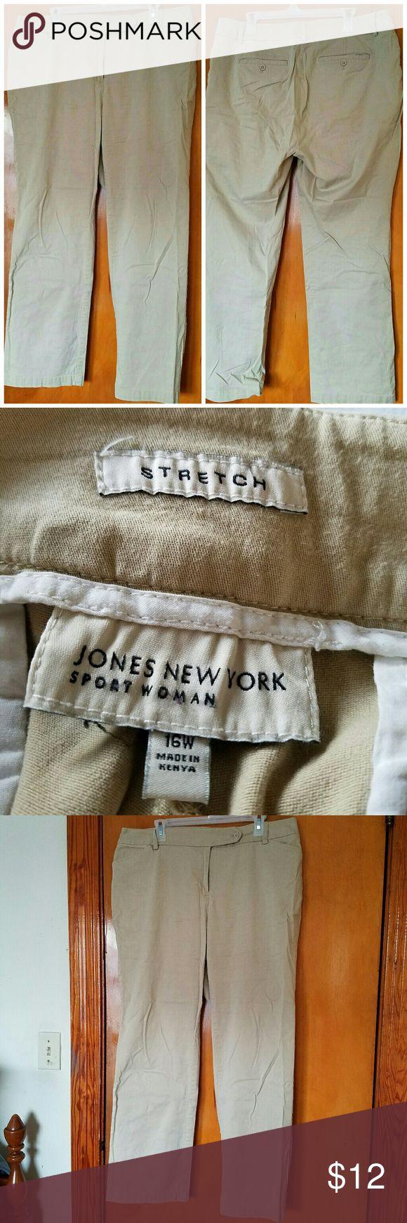 Khaki Slacks Jones New York, Khaki Slacks, Gently loved condition with no significant or noticeable flaws. Jones New York Pants Straight Leg