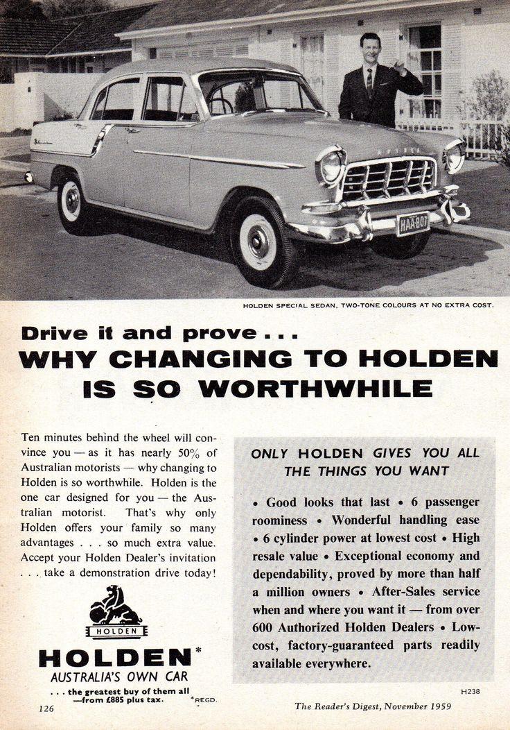 https://flic.kr/p/Zjhvh3   1959 FC Holden Special Sedan Aussie Original Magazine Advertisement