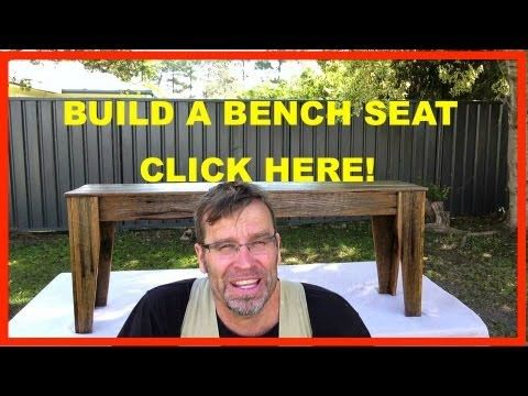 How to Build a Bench Seat. Rustic Recycled Wood Furniture. - YouTube  Inda likes this one