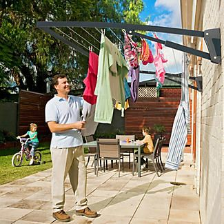 Hills® Supa Fold Mono Washing Line – Midnight Sky Blue