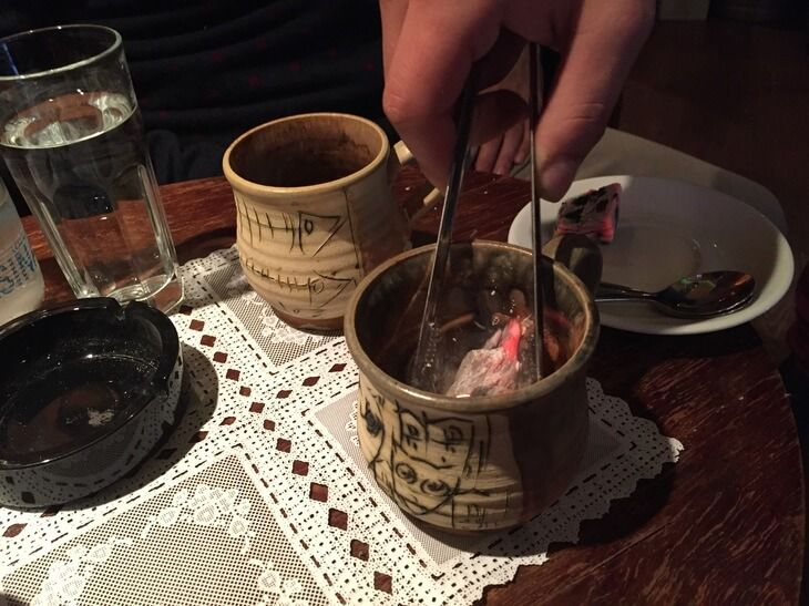 Kotor Travel Guide - Charcoal coffee in Kotor, Montenegro. A unique coffee experience where a piece of charcoal is added to your Turkish coffee to purify it.