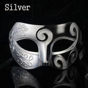 Multi Color Silver Tone Noble Italian Masquerade Masks for Men