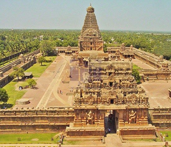 Brihadeeswarar Temple Top angle view