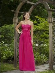 A-line Satin Overlay Center Gathered Bodice Strapless Notched Neckline Bridesmaids Dresses (KIB231107)