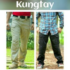 Size 40 42 44 46 48 Big Jumbo Warna Hitam Kream Hijau Abu Celana Cargo Blackhawk Tactical Panjang Fashion Pria KAB02