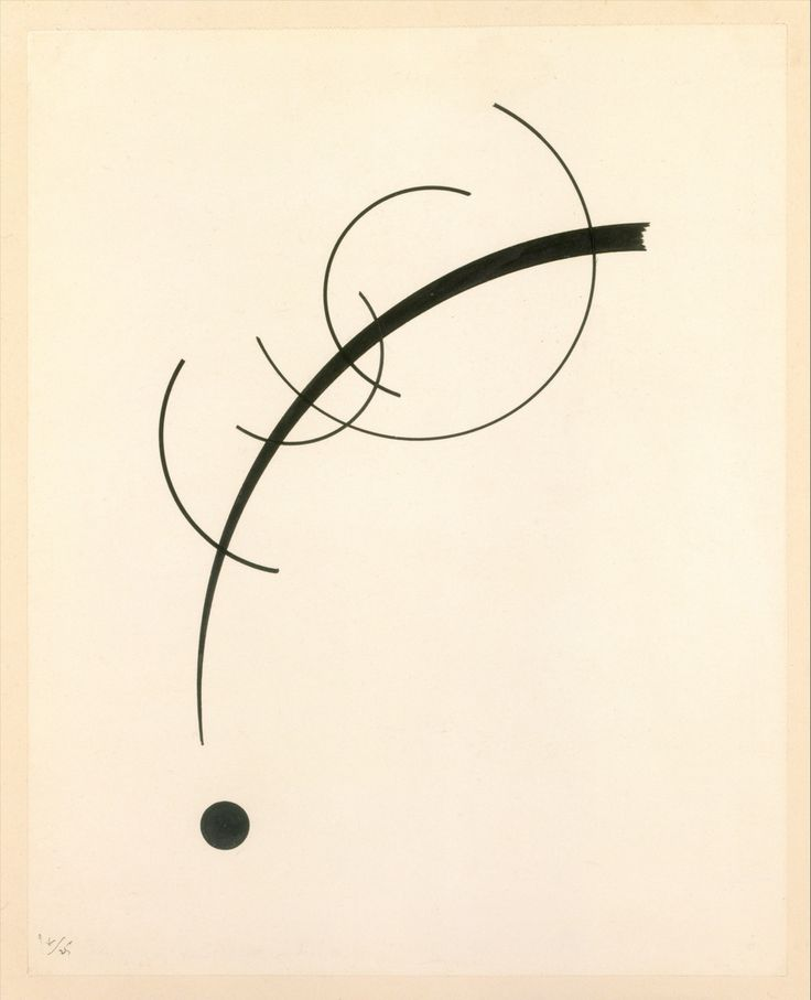 Wassily #Kandinsky - 1925 - Free #Curve to the #Point - Accompanying Sound of Geometric Curves