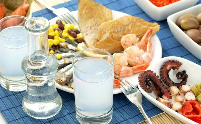 The original traditional Ouzo-meze Gift Box.Have fun like greek people do.Ouzo-Dolma-Octopus-Oline Oil Sardines-Olives-Free shipping