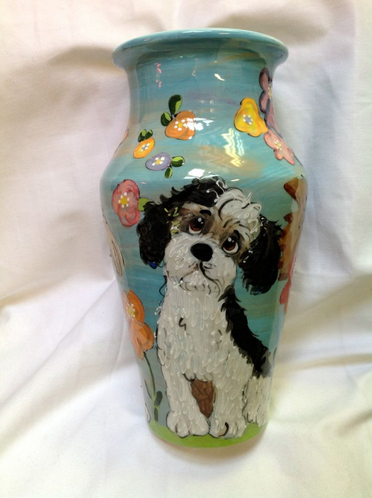 Pet Memorial Urn - custom ceramic urns for pet cremains by FauxPawProductions on Etsy
