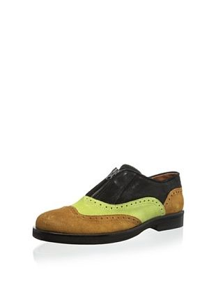 76% OFF b STORE Men's Richard 1 Wingtip Oxford (Tan/Lime/Black)