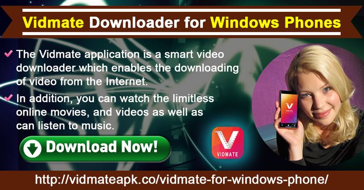 The Vidmate application is a smart video downloader which enables the downloading of video from the Internet. In addition, you can watch the limitless online movies, and videos as well as can listen to music.