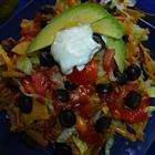 "Old Fashioned ""Taco Salad"" made with french or catalina dressing. I loved this growing up! Can't wait to try it out on the family!"