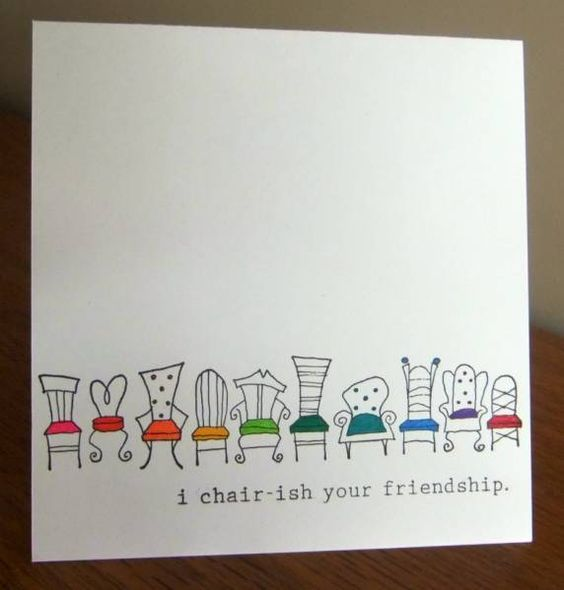 Chair Ish Punny Cards Inspirational Cards Funny Cards