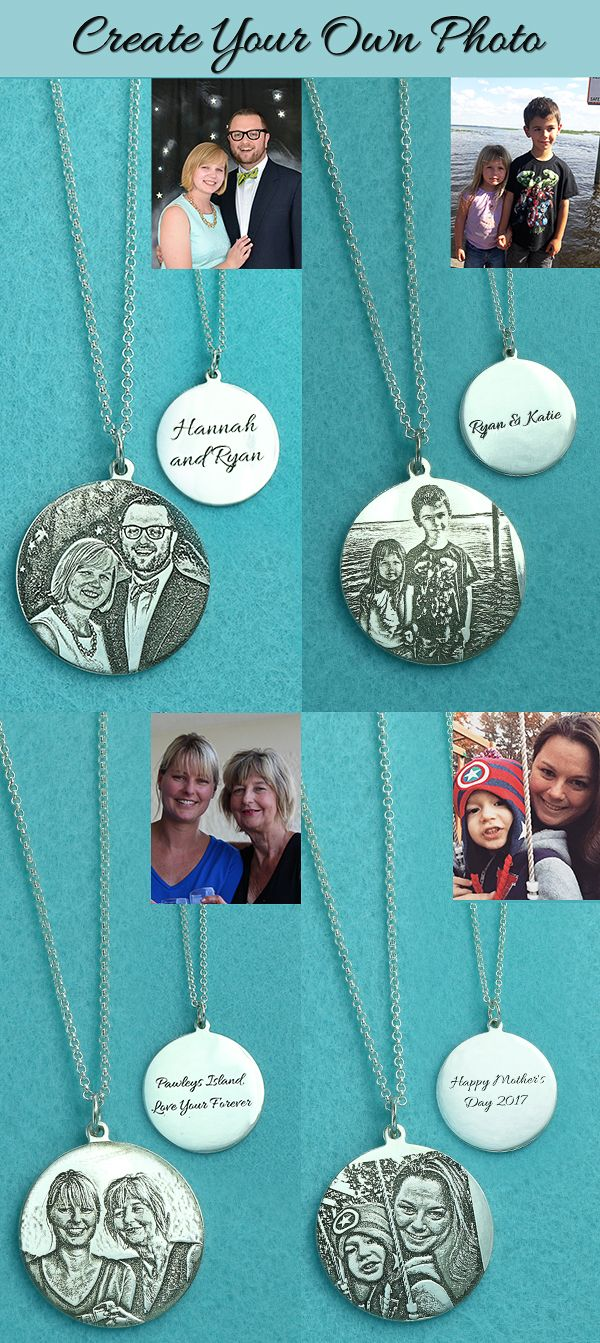 Photo necklace-the key to happiness.Happy moment always stay in our mind ,engrave memerial photo on this special jewelry ,Circle ,Oval,Star,Heart shape for your option.Which one is your favorite from getnamenecklace