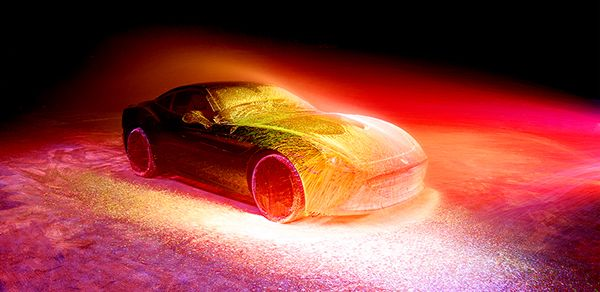 http://thecreatorsproject.vice.com/blog/neon-paint-experiment-visualizes-high-speed-ferrari-physics