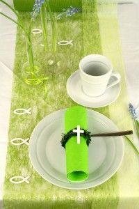 Tischdeko_Kommunion_Dekovlies_grün