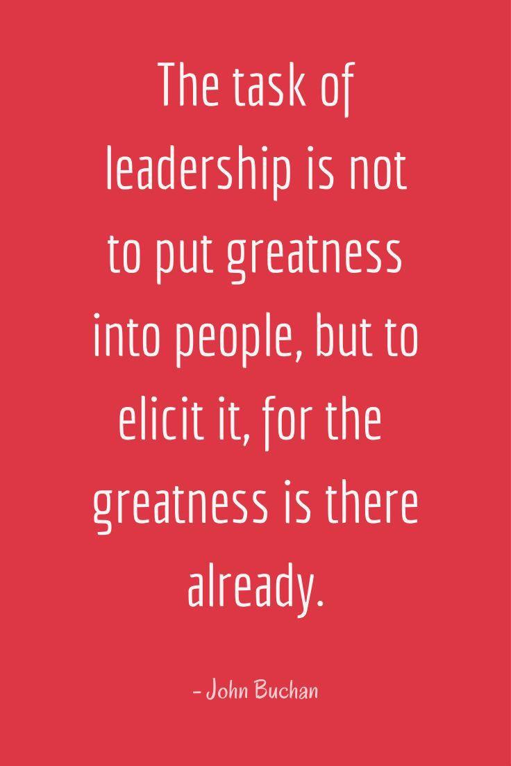 The Task Of Leadership