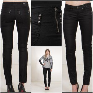 CloudNo9style - MAPP Moby Coated Black Jeans
