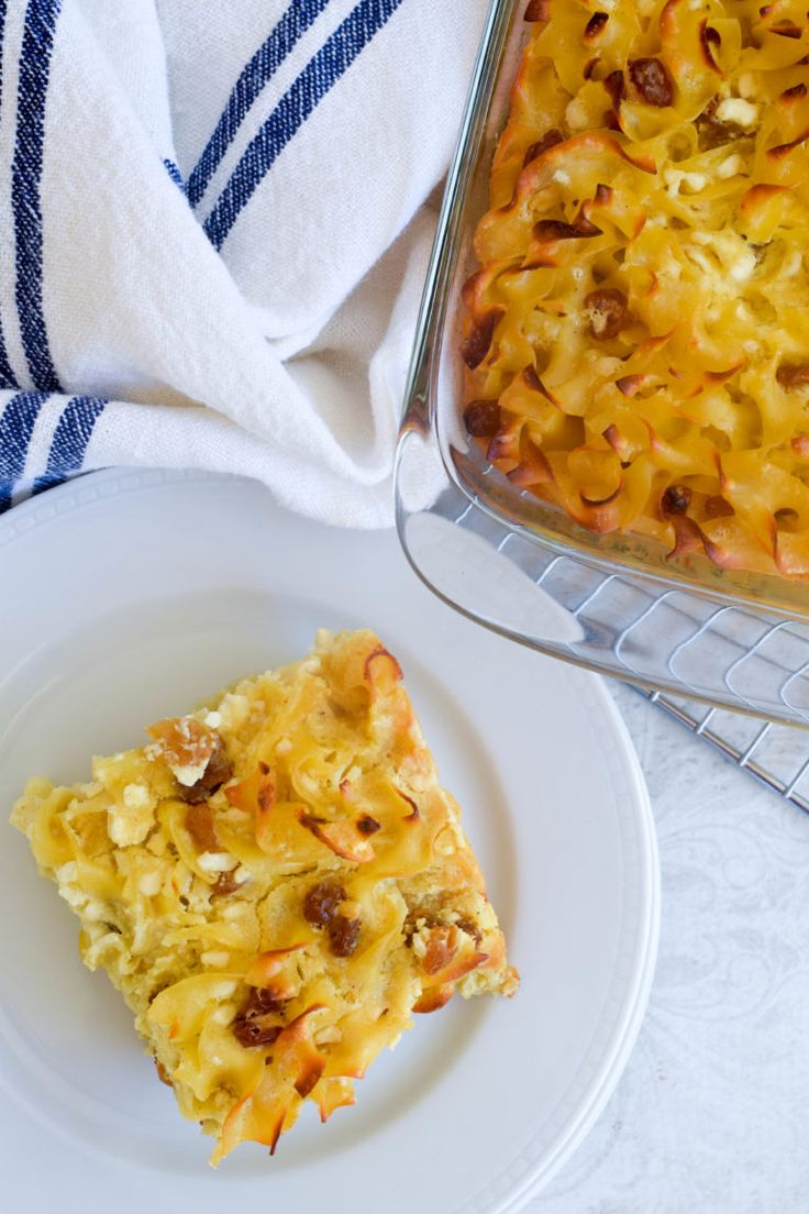 My family's favorite sweet noodle kugel - so rich and indulgent! Perfect to the break the Yom Kippur fast!